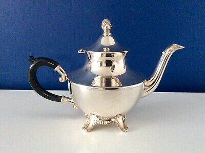 Stunning UNUSED Georgian Style Footed Silver Plated Teapot By ONEIDA c1910