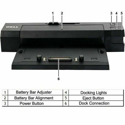 LOT OF 3 Dell N0VY640 Laptop Docking Station 130W Fully