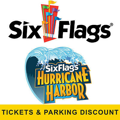 Six Flags Great Adventure Hurricane Harbor Tickets Parking - $95.00 Off Discount