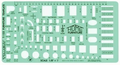 Timely 133 T 1/8&Quot; Scale Furniture Template
