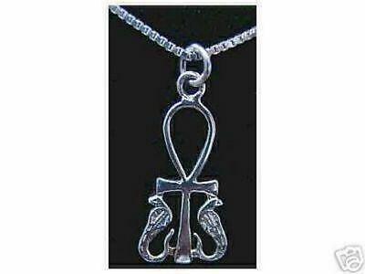 LOOK PROTECTION PENDANT charm Egyptian ANKH Jewelry Solid Sterling Silver 925