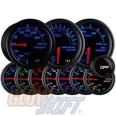 2 White 7 Color GlowShift Gauges Package 94-01 Acura Integra Dual Cluster Pod w