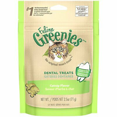 Feline Greenies Dental Treats 2.5 oz Catnip | Vet Recommended For Cats