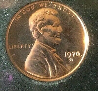 1970-S proof Lincoln cent FS-102 DDO Large over Small Date In original proof set