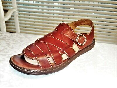 969ce302f Born Mens Fisherman Brown Leather Open Toe Sandals S.12 46 M w