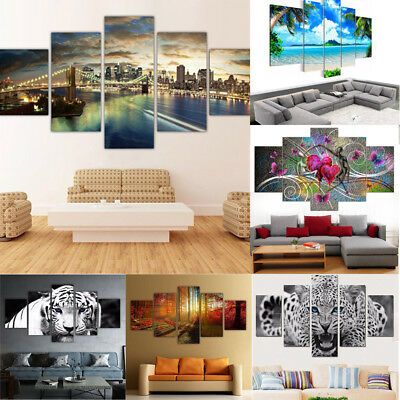 5pcs/Set Unframed Modern Oil Painting Print Canvas Picture Home Wall Room Decor