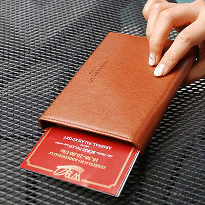 2b5c65dae1af ABAS PASSPORT COVER Holder Red Fine Leather Travel Case - $20.99 ...