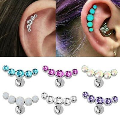 1 Piece Stainless Steel Barbell Ear Tragus Cartilage Helix Stud Earring Piercing