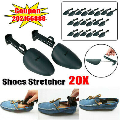 10 Pair 20pcs Adjustable Plastic Spring Shoe Tree Shaper Keeper Stretcher Men