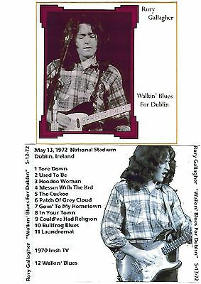 RORY GALLAGHER Walkin' Blues for Dublin CD Recorded Live 13-05-72 Like New