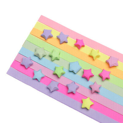 140Pcs Origami Lucky Star Paper Strips Folding Paper Scrapbooking Rainbow Colors