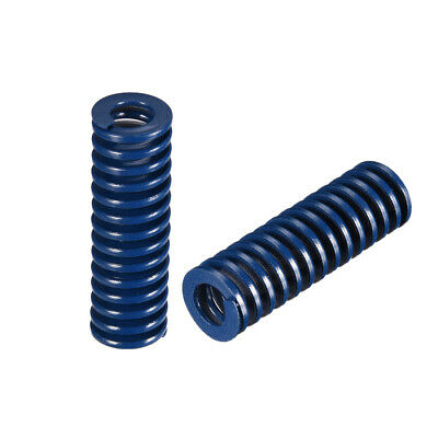 16x50mm Long Spiral Stamping Light Load Compression Mould Die Spring Blue 10Pcs