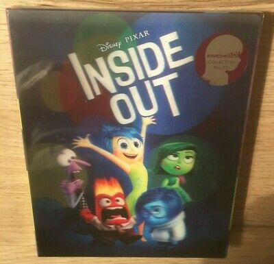 Inside Out Vice Versa Kimchi Lenticular Steelbook Blu-Ray 3D+2D Neuf New Sealed