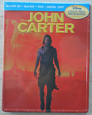 John Carter Blu-Ray 3D + 2D Steelbook Viva Metal Iron Pack Future Shop Exclusive