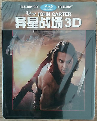 John Carter Blu-Ray 3D + 2D Steelbook Viva Metal Iron Pack China Exclusive