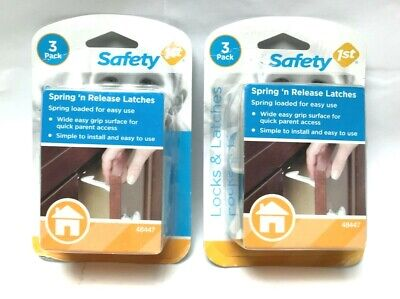Safety 1st 48447 Spring n' Release Latch Loaded Cabinet & Drawer Latches 2 Pack