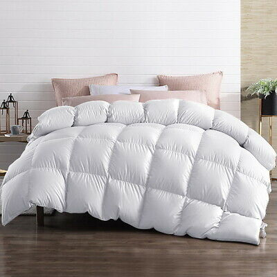 Giselle Bedding 500/700/800GSM Goose Down Feather Winter Quilt Duvet Cover Doona