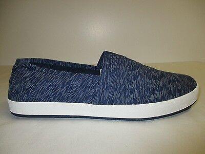1bfb6c9f186 Toms Size 8.5 AVALON Navy Textured Textile Fashion Sneakers New Mens Shoes
