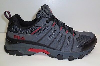 afd4b114e0aa71 Fila Size 13 WESTMOUNT Grey Black Red Leather Hiking Sneakers New Mens Shoes