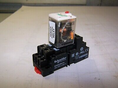 10pc Schneider Electric RSZE 1S35M Relay Socket /& RSB 1A120BD Relay