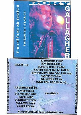RORY GALLAGHER Gampel Open Air Festival 2CD Recorded Live 21-08-93 LIKE NEW