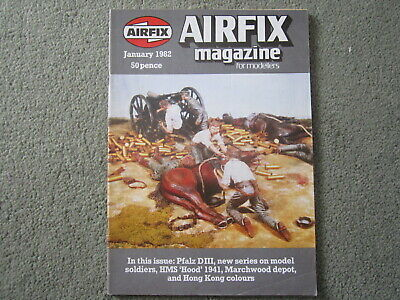 Airfix Magazine Vol 23 No.5 Jan 1982. Pfalz D.III, HMS Hood 1941 refit etc