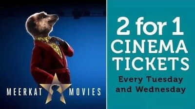 2 for 1 Meerkat Cinema Tickets and Free 2 for 1 at restaurants! FREE EXTRA CODES