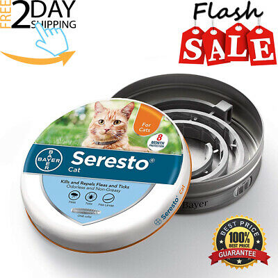 Seresto Bayer Flea And Tick Collar For Cats 7-8 Month Protection Flea Collar