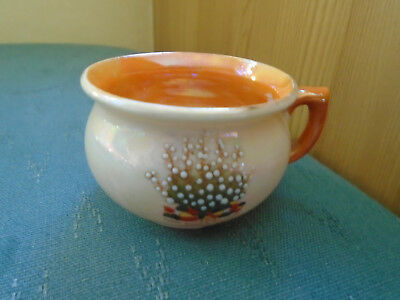 Lwh Lucky White Heather From Leamington Orange Lustre Potty - Crested China