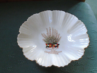 Lucky White Heather From Charnwood Forest Coalville Dish - Crested China