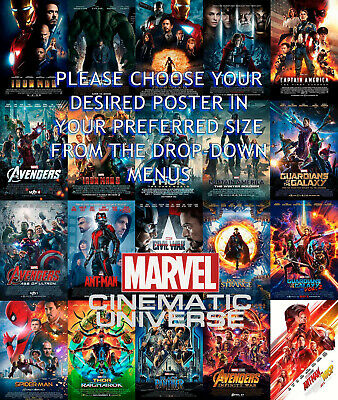 MARVEL AVENGERS ENDGAME 2019 Movie Cinema Poster - Film Art Print A4 A3