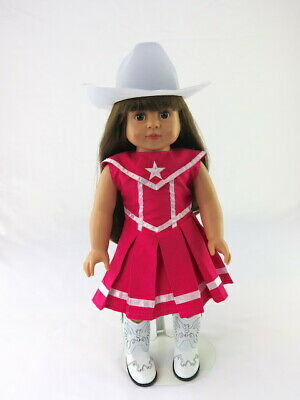 """American Girl 18"""" Doll Outfit Hot Pink Cowgirl with Boots and Hat Brand New Bag"""