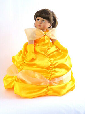 """American Girl 18"""" Doll Outfit Golden Princess Dress Fairy Tale Brand New in Bag"""
