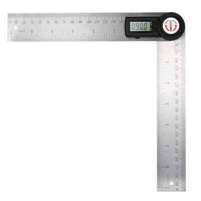 GemRed 2-In-1 Digital Angle Rule Goniometer Stainless Steel Angle Finder W8S4