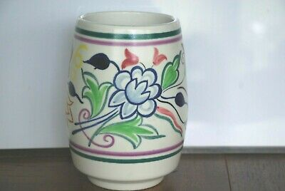 Poole England hand painted art pottery vase 6""