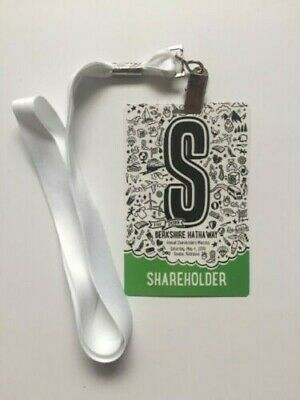 2019 Berkshire Hathaway Annual Shareholders Meeting 1 Credential Ticket Buffett