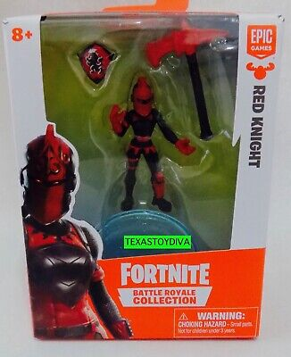 *FORTNITE* Battle Royale Collection *RED KNIGHT* Figure & Weapon Shield Game NEW