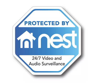 "NEST security decal 3.75"" laminated out door decal doorbell surveillance camera"