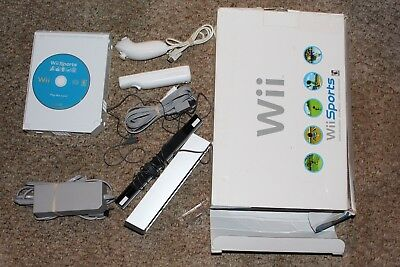 Nintendo Wii White Console System WITH Box W/ Wii Sports Guaranteed FAIR