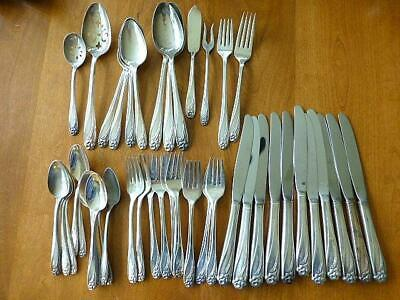 47 Piece DAFFODIL 1847 Rogers Bros Silverplate Flatware Service for 11 + Extras
