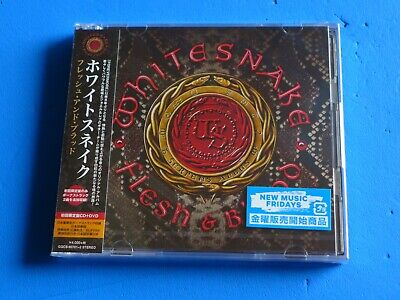 2019 JAPAN DELUXE EDITION WHITESNAKE FLESH & BLOOD w/BONUS TRACK CD + DVD