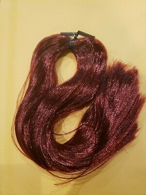 Nylon Doll Hair Garnet Red for Rerooting Barbie Monster High Disney