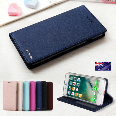 Flip Cover For Samsung S10 S9 8 Plus 7 Note9 8 Leather Magnetic Wallet SILK CASE