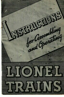 Instructions For Assembling & Operating Lionel Trains 1937 (FLTZ)