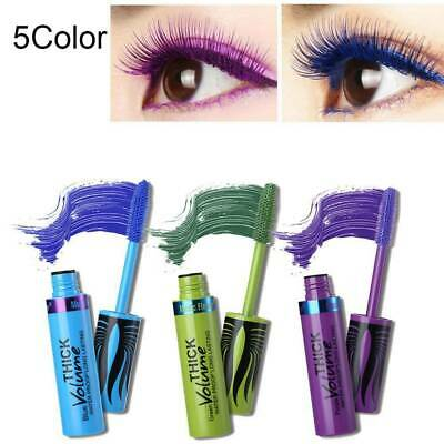 4D Silk Fiber Lash Mascara Colorful Waterproof Curling Eyelash Extension Thick