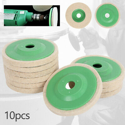 10 Kit Auto Spugna Lucidatura Tampone trapano Pad Buffing Per lucidatrice 100mm