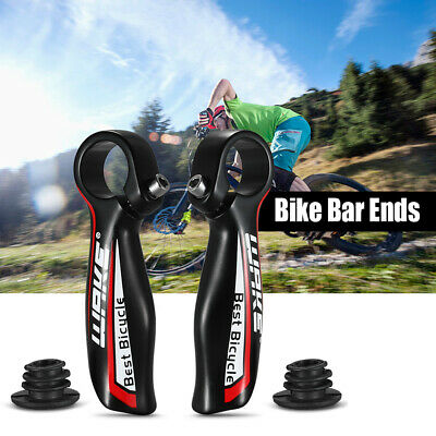 Pair Aluminum Alloy MTB Bar End Mountain Bike Handlebar Bicycle 22.2mm Grip F4U3