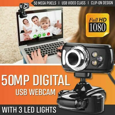 USB HD Webcam Web    era & Microphone Mic 3 LED PC Laptop