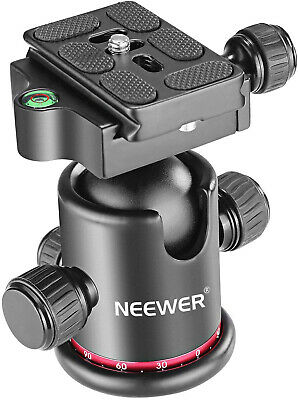 Neewer Metal 360°Rotating Panoramic Ball Head with Universal Quick Shoe plate