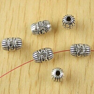 10pcs Tibetan silver 3 hole flower spacer beads H0126